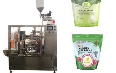 giặt chất lỏng rotary premade pouch máy đóng gói